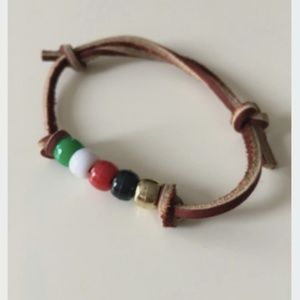 Vintage Vegan Friendly Leather Bracelet